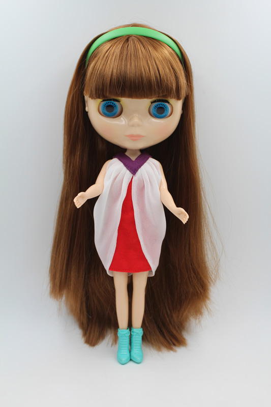 Free Shipping big discount RBL-271DIY Nude Blyth doll birthday gift for girl 4colour big eyes dolls with beautiful Hair cute toy free shipping bjd joint rbl 415j diy nude blyth doll birthday gift for girl 4 colour big eyes dolls with beautiful hair cute toy