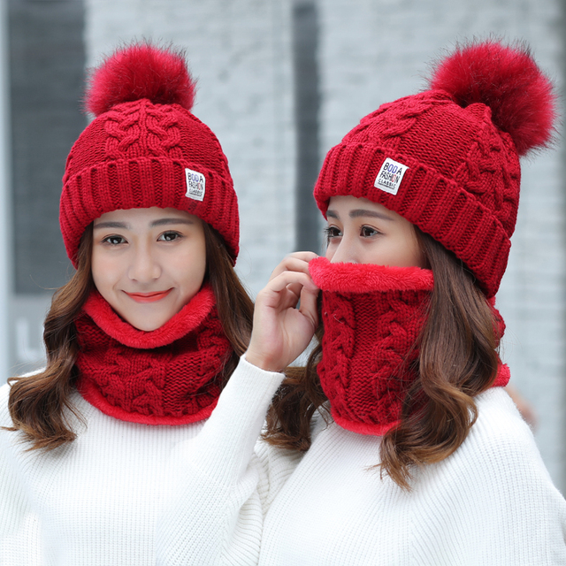 Thick Cableknit Beanie and Scarf Set