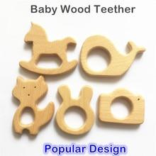 Chenkai 10pcs Trä Teether Nature Baby Tandläkare Gripa Toy DIY Ekologiskt Ekologiskt Trä Tänder Tillbehör