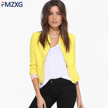 2018 Spring Women Office Short Jacket Slim Fit Blazer Short Jackets Notched Offi