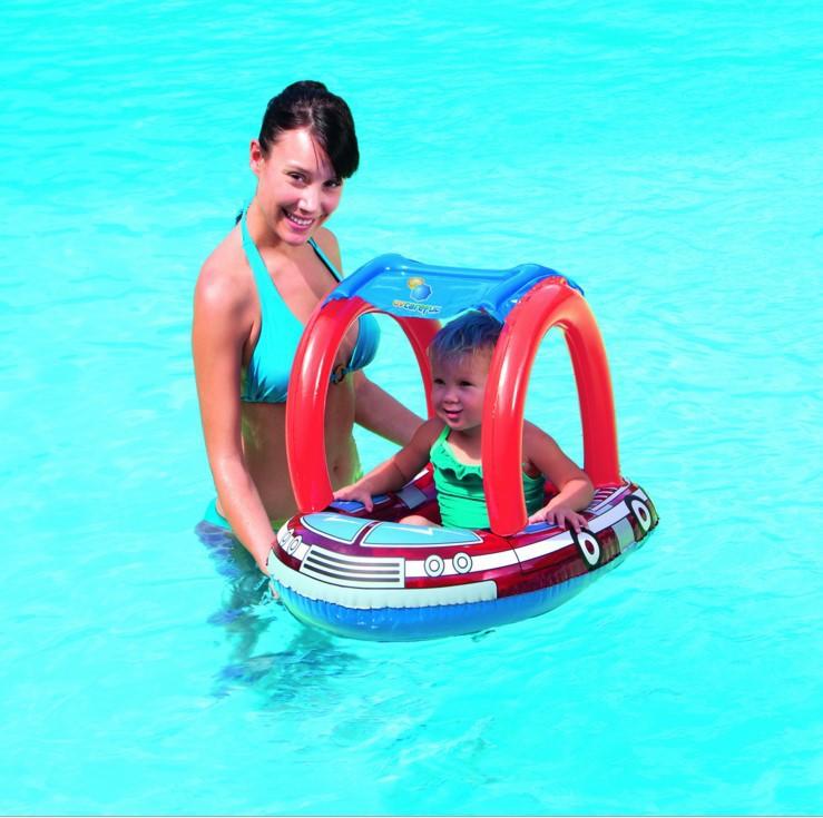 Genuine Bestway 34093 inflatable float swim ring fire baby seat b33