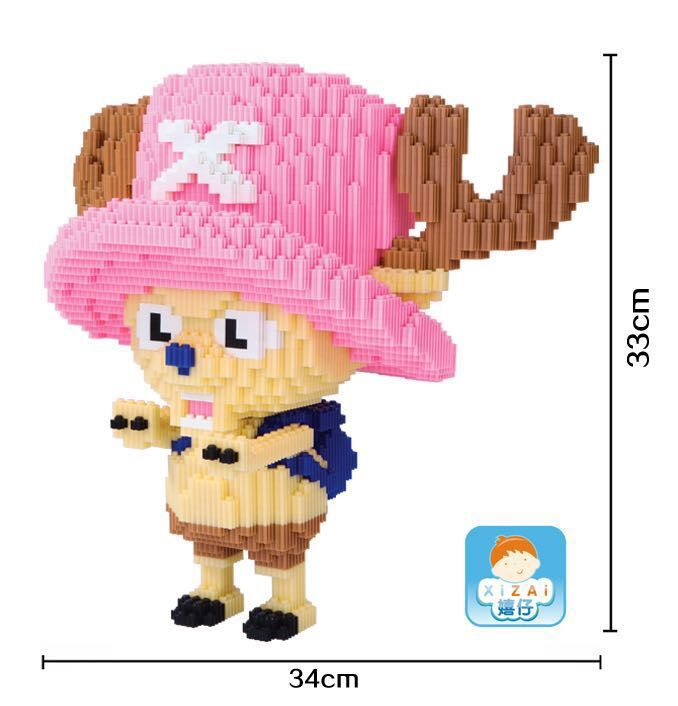 Xizai Big size Connection Blocks One Piece Anime Model Chopper Building Bricks Luffy Auction Figures DIY Toys for Children Gifts