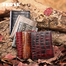 TERSE_Famous brand handmade genuine CROCODILE WALLET for LADIES luxury WOMEN SHORT wallet with card holder factory price