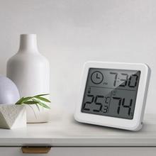 Многофункциональный Термометр-Гигрометр автоматический электронный монитор температуры и влажности Часы 3,2 дюймов Большой ЖК-экран
