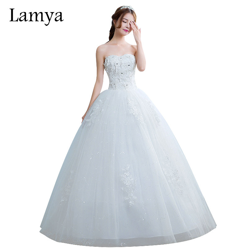 LAMYA Vintage Sweetheart Lace Flower Elegant Wedding Dresses 2018 ...