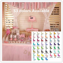 Top quality 26.7X15cm Colorful Tissue Tulle Roll Spool Craft Wedding Party Decoration Organza Sheer Gauze Element Table Runner(China)