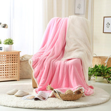 100% Polyester Warm Soft Fleece Blankets Double Layer Thick Plush Throw on Sofa Bed Plane Plaids Solid Bedspreads Home Textile