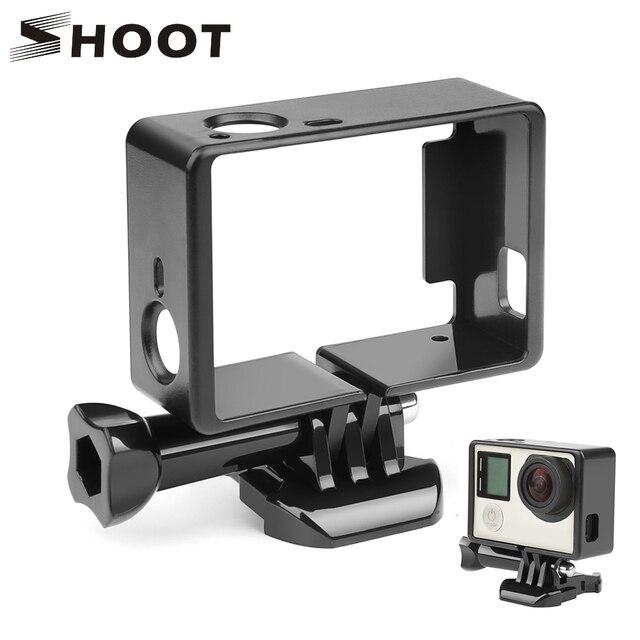 SHOOT Padrão Moldura de Borda de Proteção para Gopro Hero 4 3 + Preto 3 Protetor de Caixa Da Câmera de Montagem Para Go Pro 3 + 4 câmera Acessório