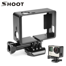 Schieten Standaard Beschermende Border Frame Voor Gopro Hero 4 3 + Zwart 3 Camera Case Protector Mount Voor Go Pro 3 + 4 Camera Accessoire