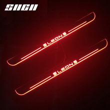 SNCN Trim Pedal LED Car Light Door Sill Scuff Plate Pathway Dynamic Streamer Welcome font b