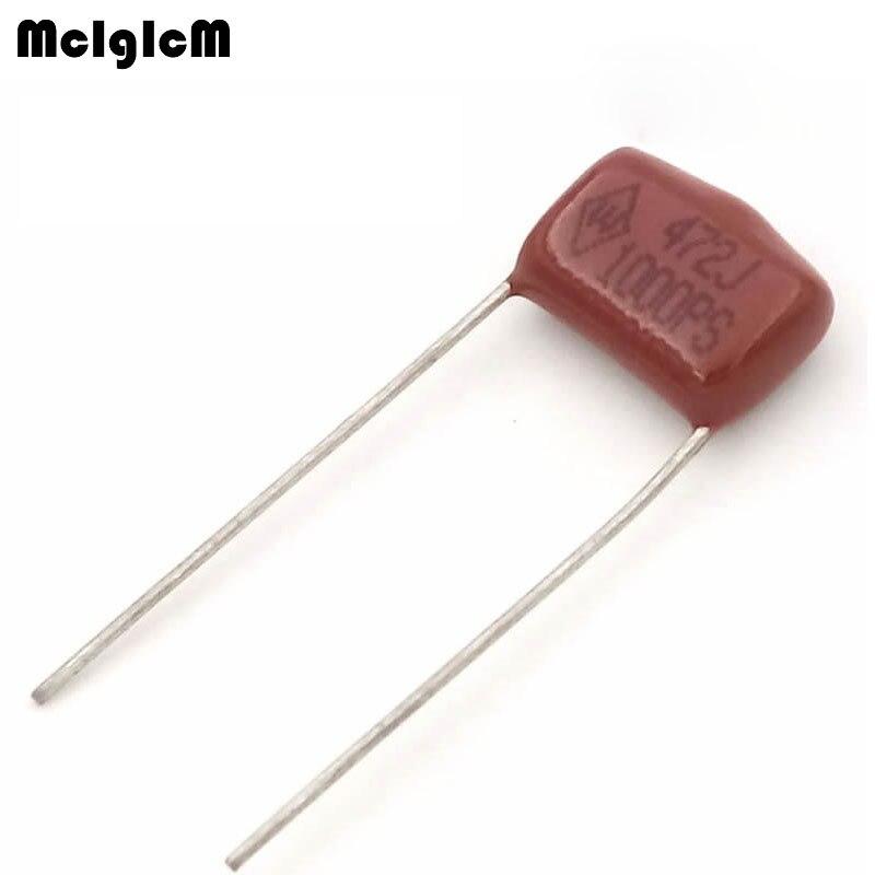 MCIGICM 1000 pcs 472 4 7nF 1000V CBB Polypropylene film capacitor pitch 10mm 472 4 7nF