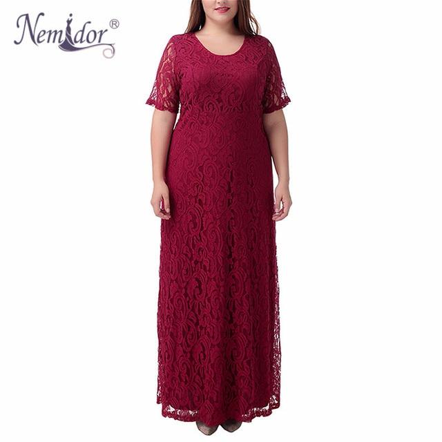 Nemidor Hot Sales Women Elegant Lace Party Dress Plus Size 7XL 8XL 9XL  Short Sleeve Floor Length Summer Casual Long Maxi Dress-in Dresses from  Women's ...