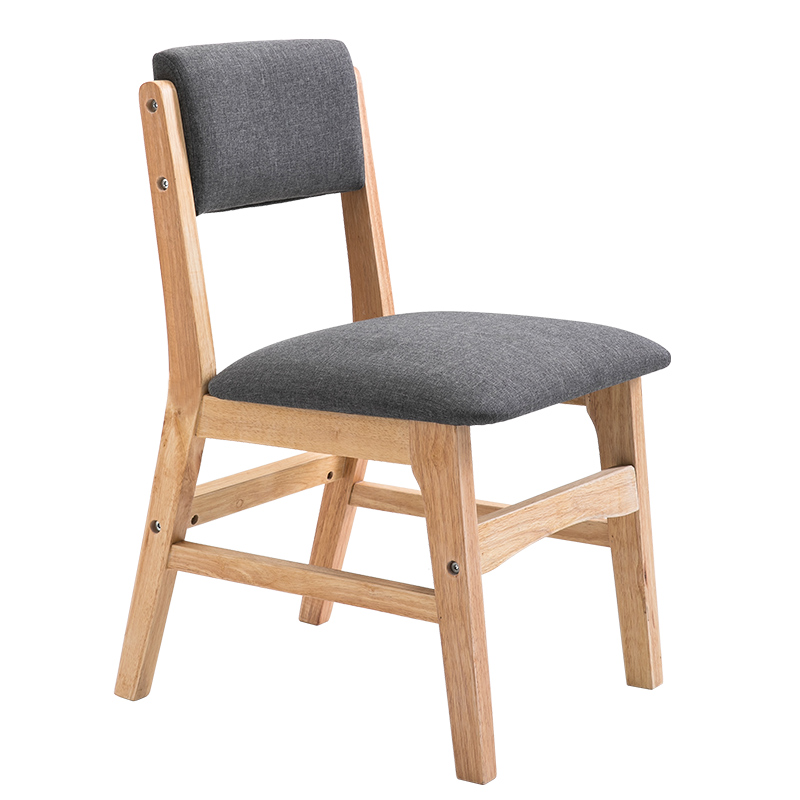 US $72.01 35% OFF|Solid wooden dining chair Nordic adult home cloth art  chair modern simple back restaurant table chair casual fashion stoo-in  Dining ...