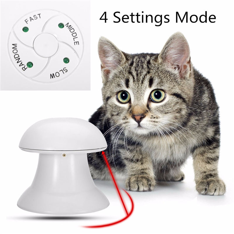 New Arrived 360 Degree Automatic Interactive Dart Laser Light Exercise Teaser Fun Exercise Pet Puppy Toy For Cat Dog Funny