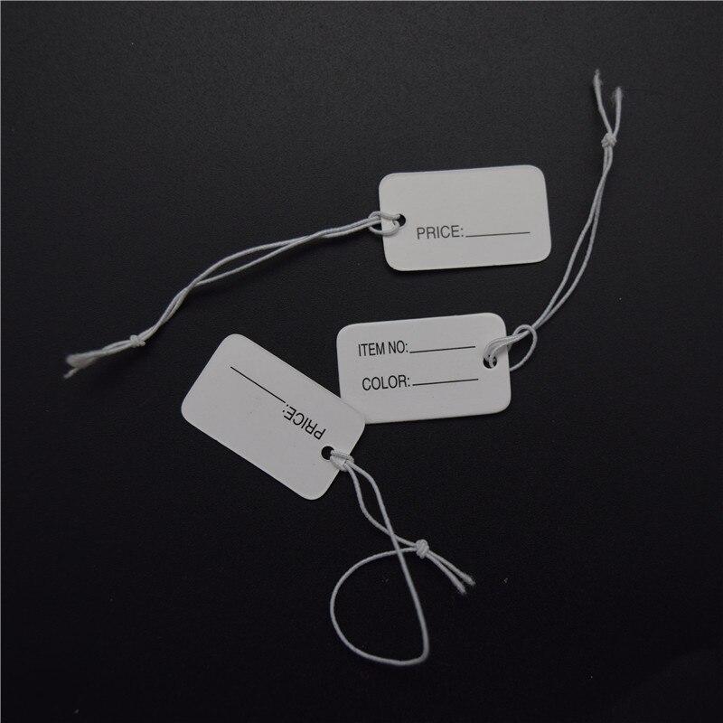 1000 unids papel blanco cadena strung precio etiquetas con cuerda elástica precio  etiquetas etiqueta 2.5 cm   1.5 cm 5c67fb9644