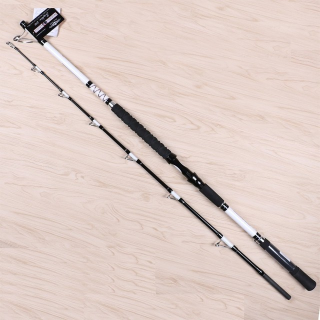 1pcs/pack 2.1m 800g jig weight 2sections spinning Carbon fiber marine trolling rod boat jigging big game Fishing Rod