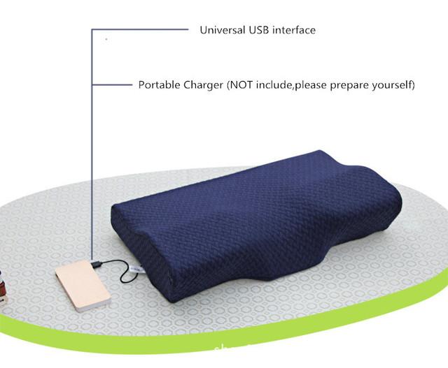 Elektrisk massasjepute Ortopedisk latex magnetisk 50 * 30 cm hals pute rebound memorypute