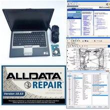 alldata 10,53 и mitchell ondemend с ноутбуком d630 установлен для автомобиля Тяжелый грузовик диагностический d630 4g ram с 1 ТБ hdd