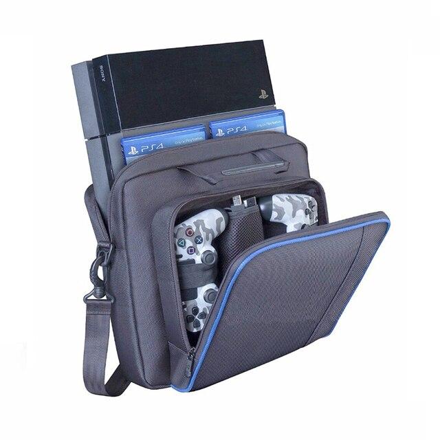 Per PS4 / PS4 Pro Sottile Gioco Sytem Sacchetto di formato Originale Per PlayStation 4 Console Proteggere Spalla Carry Bag Borsa caso Della tela di canapa 6