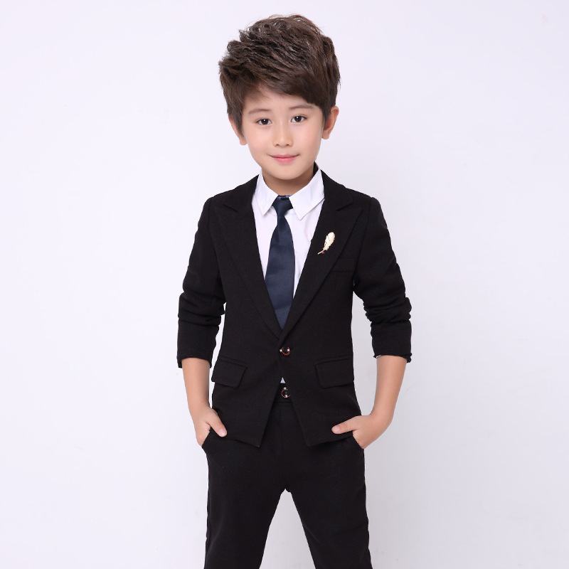 2Pcs/set Boy Gentleman Suit for Weddings Prom Party 1-10Y Children Slim Fit Suit Sets Boys Tuxedos Formal Blazer Pants Sets sayoyo brand genuine cow leather baby moccasins snail toddler infant footwear soft soled baby boy shoes pre walker free shipping
