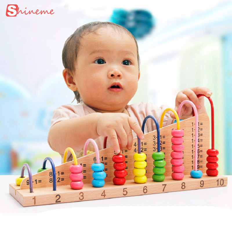 Math Toys For Kids : Kids wooden toys child abacus counting beads math learning