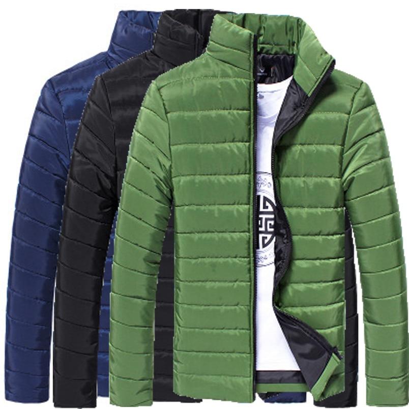 NEW Fashion Mens sports Cotton Stand Zipper Warm Winter Thick Coat Jacket Hiking Jackets Freeship #4n25 (2)
