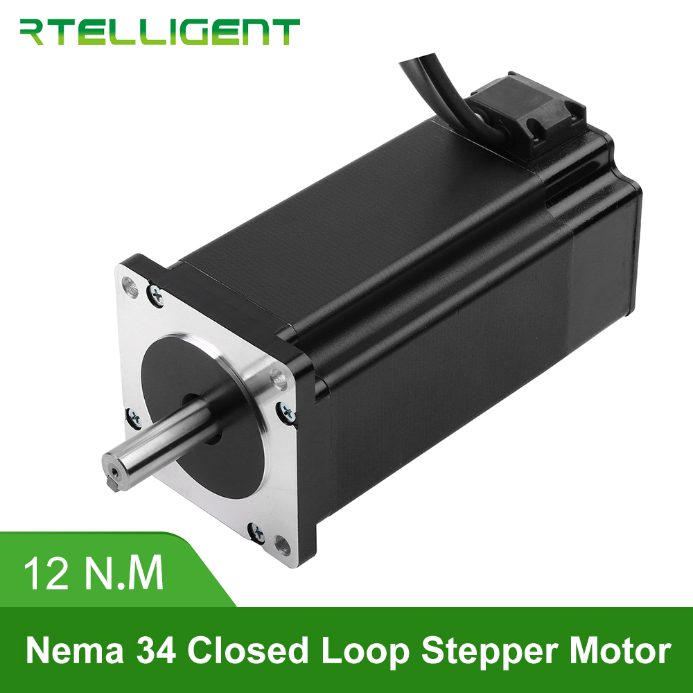 Factory Outlet Nema 34 86A12EC 12N.M 6.0A 2-Phase Hybird CNC Closed Loop Stepper Motor Easy Servo Motor Step-servo with EncoderFactory Outlet Nema 34 86A12EC 12N.M 6.0A 2-Phase Hybird CNC Closed Loop Stepper Motor Easy Servo Motor Step-servo with Encoder