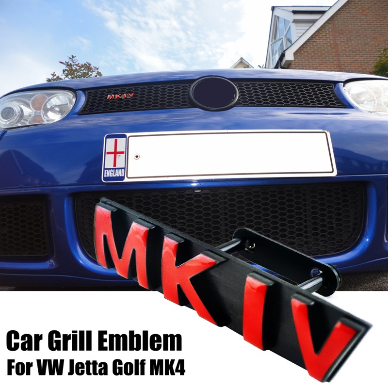 New MKIV Car Grille Mounting Logo Emblem for Jetta Golf 4 MK4 Honeycomb Front Grill Auto Head Decoration grille