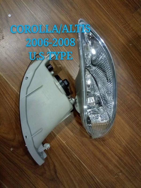 все цены на eOsuns halogen fog lamp front bumper light +fog lamp cover for Toyota Corolla 2006-2008 U.S TYPE онлайн