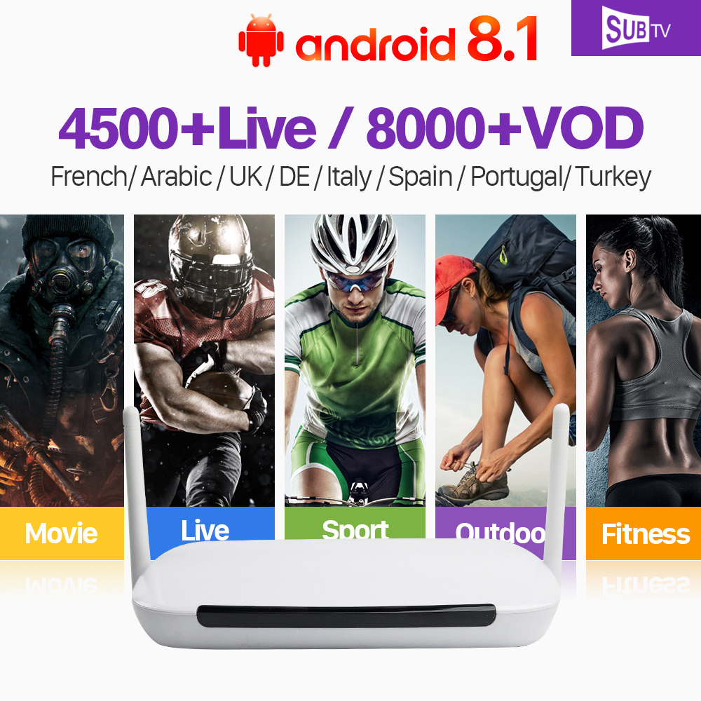 IPTV 1 Year Subscription QHDTV Code IPTV IUDTV SUBTV Q9 Smart Android 8.1 TV Box Europe French Arabic Italia Spanish IPTV Box недорго, оригинальная цена