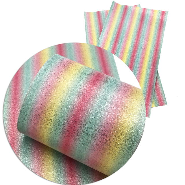 David accessories 20 34cm rainbow glitter faux artificial Synthetic leather  fabric hair bow diy decoration 9f440dfbd655