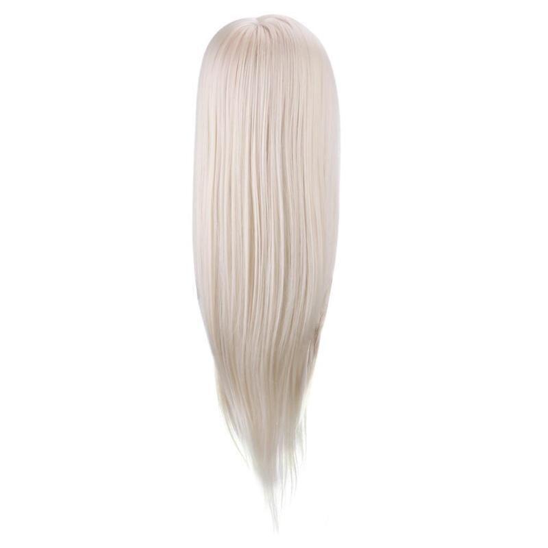 CAMMITEVER Blonde Coiffure Tête-Forme Mannequin Modèle La Tête De Coupe Curling Tressage Marceling L'exercice