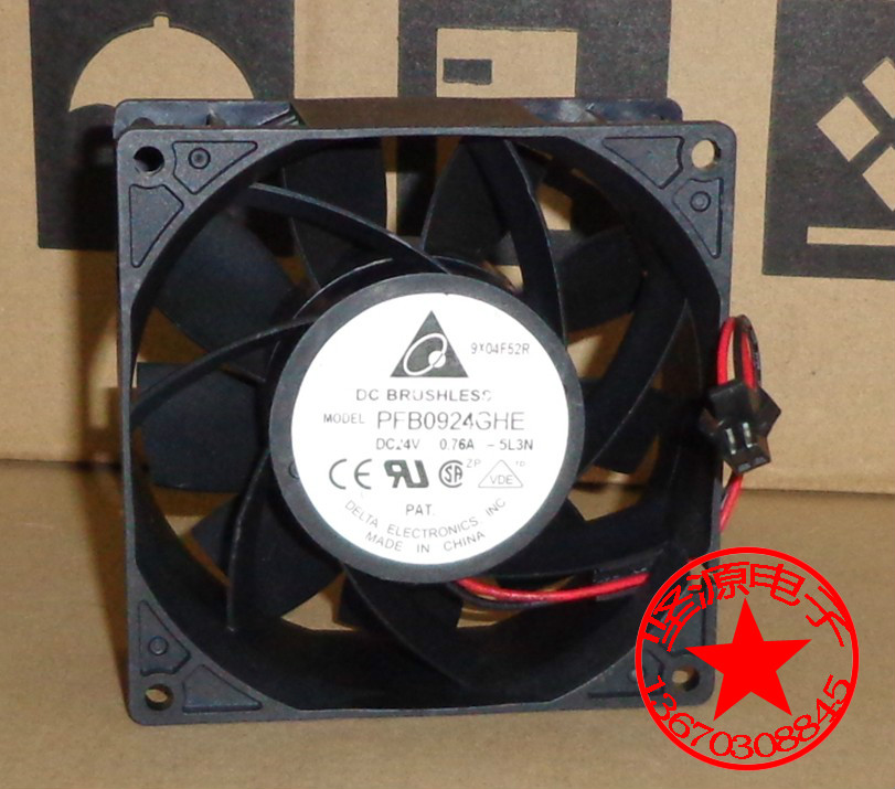Delta Electronics PFB0924GHE 5L3N Server Square Fan DC 24V 0.76A 92X92X38mm 3-wire