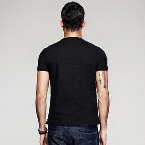 Image 3 - KUEGOU 2020 Summer Cotton Patchwork Yarn Black T Shirt Men Tshirt Brand T shirt Short Sleeve Tee Shirt Fashion Clothes Top 7053