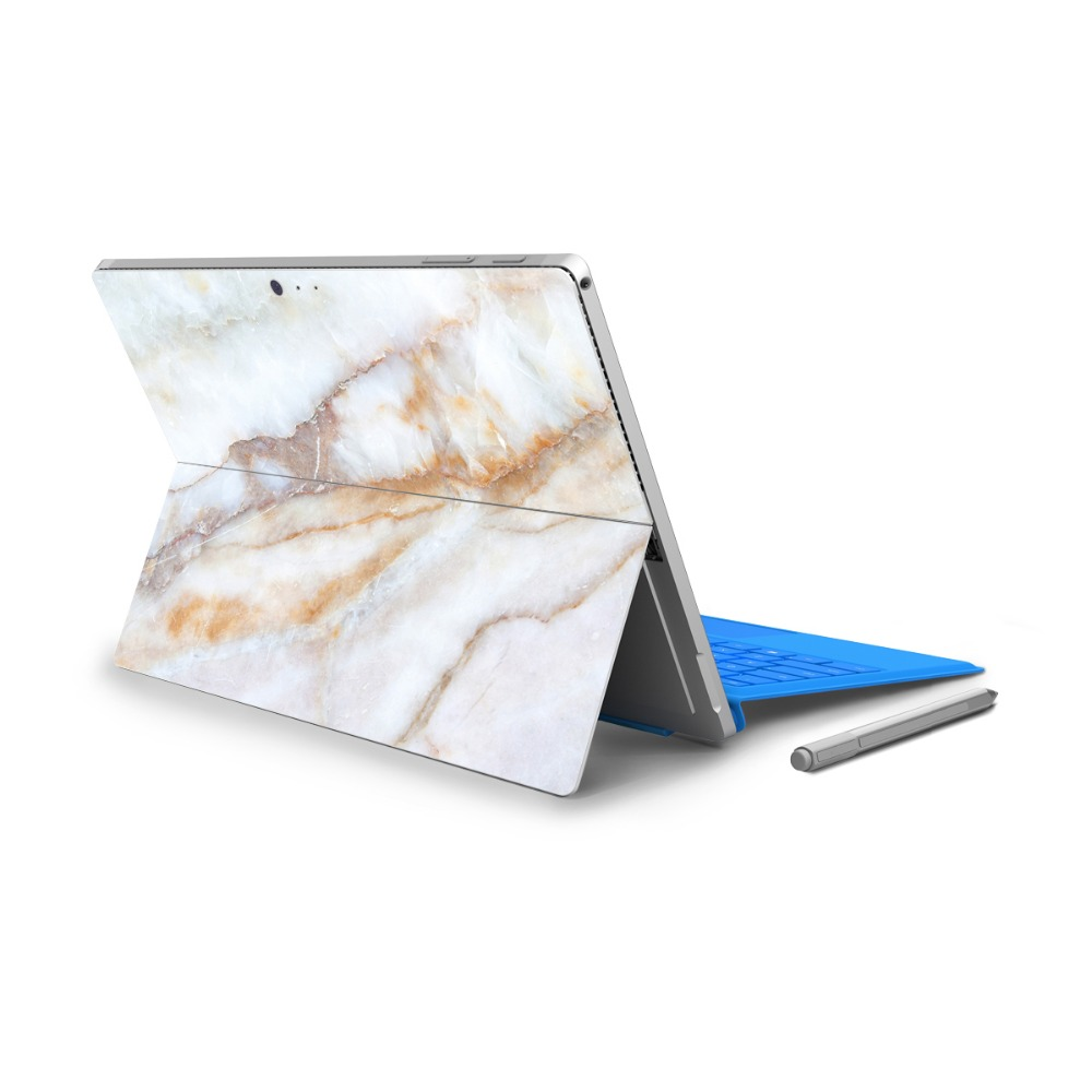 YCSTICKER - For Surface Pro 4 Vinyl Back Full Decal Tablet Painting Sticker Colored Print Skin & Surface Pro 4 HD Screen Film