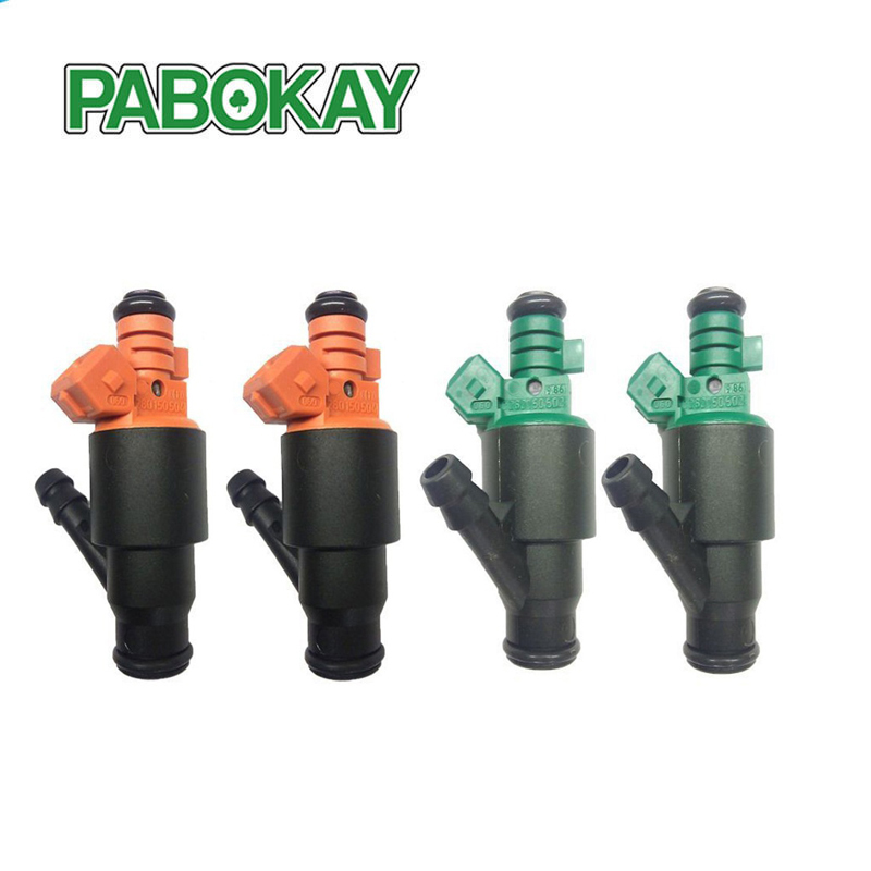 4 pieces x ORIGINAL Fuel Injector For 95-02 Kia Sportage 2.0 two green 0280150502 and two orange 0280150504 ботинки для сноуборда thirty two lashed ft 13 green orange