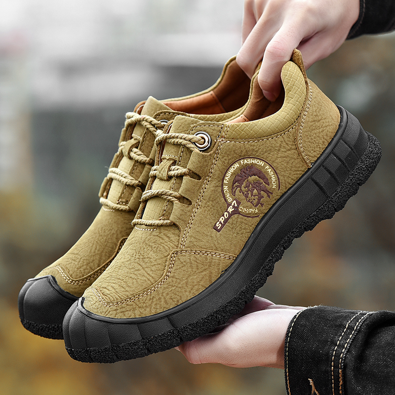 New Comfort Suede Leather Casual Shoes Breathable Outdoor Hiking Shoes Plus Size Autumn Walking Shoes Men in Men 39 s Casual Shoes from Shoes