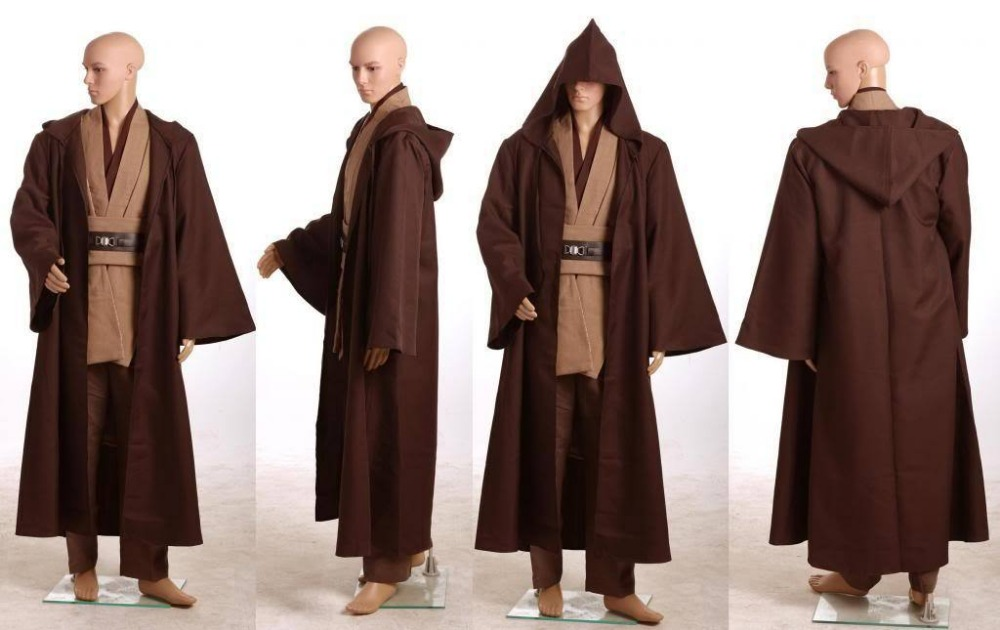 Star Wars Costume Revenge of the Sith Obi Kenobi Wan Halloween COSplay Costume Jedi Suit For Men