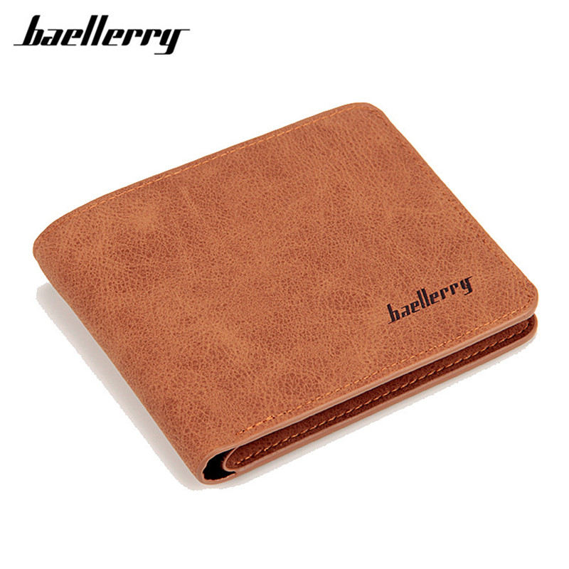Men Short Wallets Men High Quality PU Leather Purses Nubuck Card Holder Wallet Fashion Causal Zipper Coin Purses 2017 Baellerry hot sale leather men s wallets famous brand casual short purses male small wallets cash card holder high quality money bags 2017