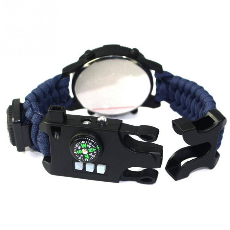 aeProduct.getSubject()  EDC Tactical multi Outside Tenting survival bracelet watch compass Rescue Rope paracord gear Instruments package HTB1HZbbFStYBeNjSspaxh5OOFXae