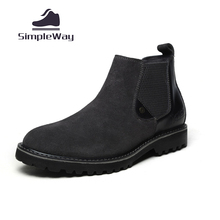 Herren chelsea stiefel casual echtem leder wildleder ankle wüste schwarze stiefel für mens schnee winter martin cowboy westernstiefel schuhe