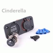 Motorcycle Voltmeter Socket  Cigarette Lighter Plug Socket/The car cigarette lighter top selling