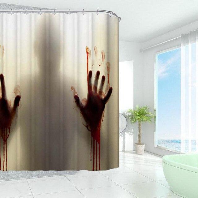 New Design Bloody Bathroom Shower Curtains Polyester Bath Bathing ...