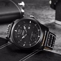OHSEN Luxury Brand Military Watches Men Quartz Analog Leather Clock Man Sports Watches Army Watch Relogios Masculino