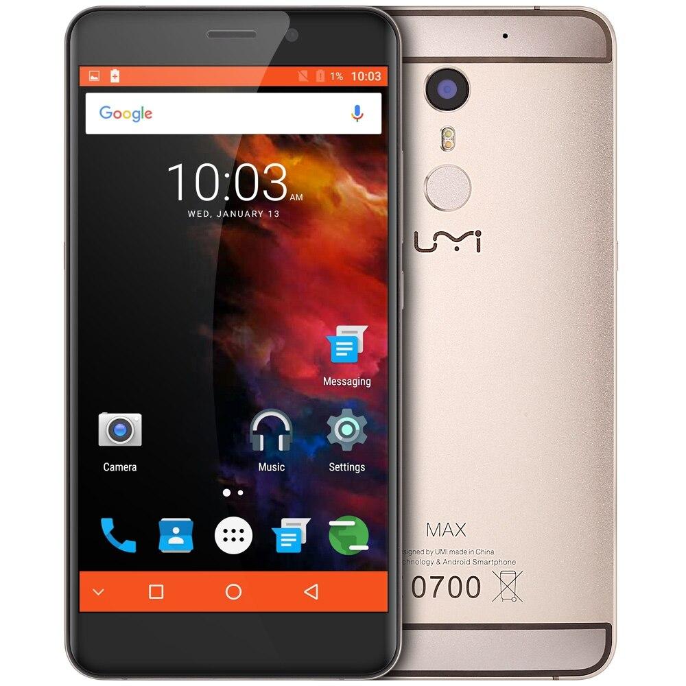 """Цена за Umi Макс Android 6.0 5.5 """"4 Г Смартфон Helio P10 Octa Ядро Мобильного Телефона 3 Г 16 Г Отпечатков Пальцев ID Тип HiFi C 13.0MP 4000 мАч Dual SIM"""