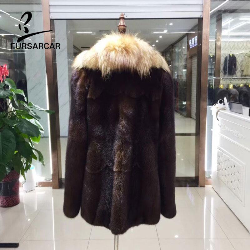 Fourrure Pour Femmes Manteau Les Vison Femelle As Importer Véritable Show Nouveau Col Outwear Fursarcar De Cuir D'hiver Avec Réel Style En 8qYxX