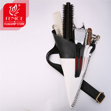 Fenice Unique Triangle Vintgae Leather Case Hairdressing Barber Salon Holster Pouch Styling Tools Bag for 5pcs Hair Scissors high quality pu leather barber hair scissors pet scissors bag salon hairdressing holster pouch case hair styling tools