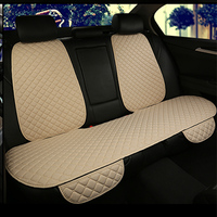 Car Seat Cover Universal Flax Car Seat Cushion with Backrest Four Seasons Interior Auto Chair Pad Flax Covers Seat Carpet Mat