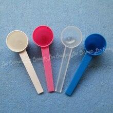 5 g / 10ML HDPE Spoon 5 gram Plastic Measuring Scoop for medical milk powder Liquid - 4 colors for option 1000pcs/lot wholesale