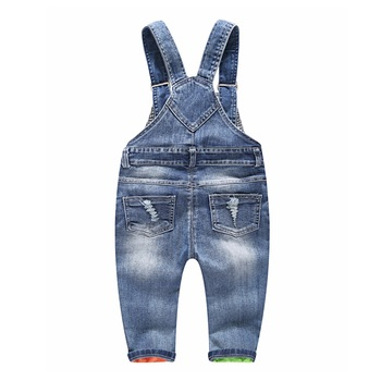 1-5T Kids Jeans Baby Rompers Spring Boys Girls Overalls Bebe Jumpsuit Pants Toddler Trousers Kids Clothes Children Clothing 1